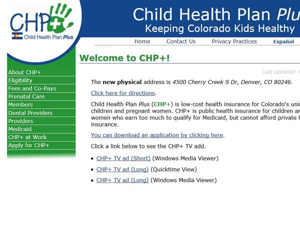 Colorado Assistance Programs State Rx Plans
