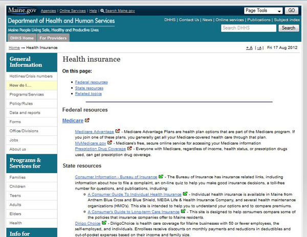 Maine State Health Insurance Assistance Program