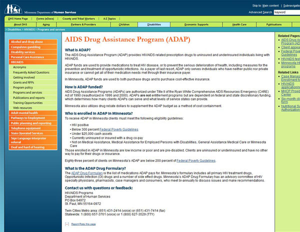 Minnesota AIDS Drug Assistance Program