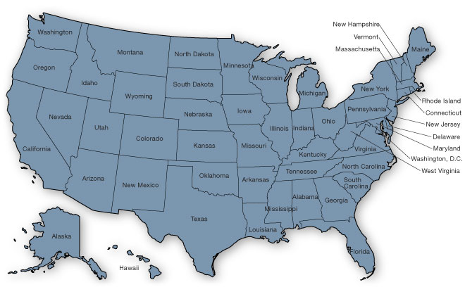 The National Resource Center For Rx Assistance Plans State Rx Plans - Us map with states listed